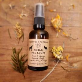 Huile de Massage Bio - L'Huile des Loups – Plantes & Potions