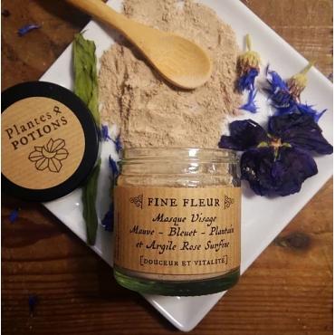 Fine Fleur - Masque Visage Bio - Plantes & Potions