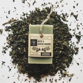 Savon Shampoing Ortie & Menthe poivrée – La Savonnerie Buissonnière