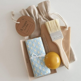Kit DIY 3 beewraps GINKO – B.Happy Food Wrap