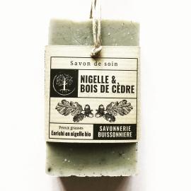 Savon Nigelle & Bois de Cèdre - Savonnerie Buissonnière (100g)