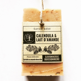 Savon Bio Calendula & Lait d'amande - La Savonnerie Buissonnière