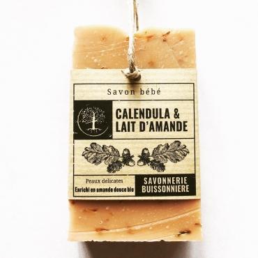 Savon Bio Calendula & Lait d'amande (100g)