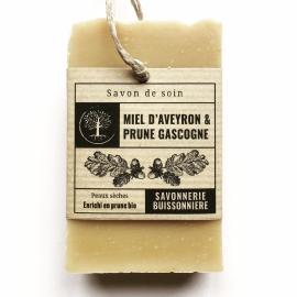 Savon Bio Miel d'Aveyron & Prune Gascogne